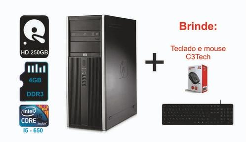 Cpu Hp Elite - Intel Core I5 - 4gb Ddr3 - 250gb Hd