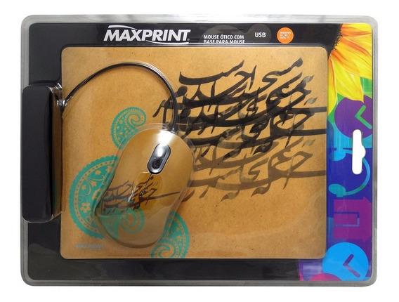24x 609180 Mouse Ótico Usb Maxprint + Base Mouse C Nfe