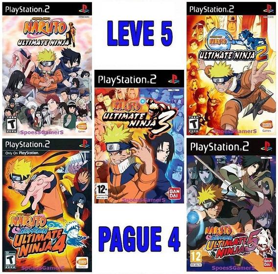 Naruto Ultimate Ninja Coleção (5 Jogos) Ps2 Patch