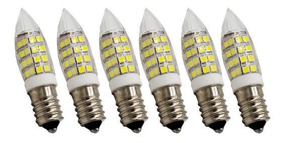 Kit 10 Lâmpadas Led Frio Ou Quente Halopin E14 7w Iluminação