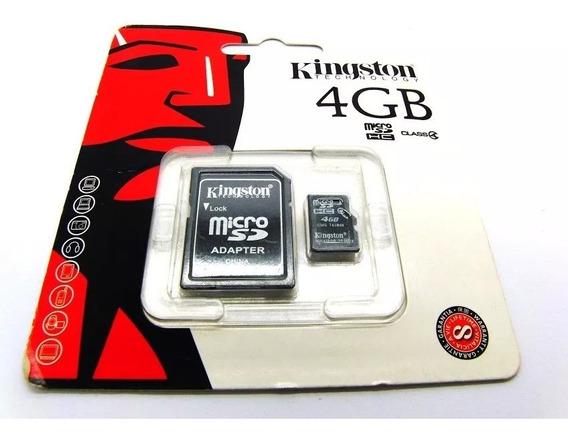 Cartão De Memória Micro Sd 4gb Kingston Com Adap. 2 Und.