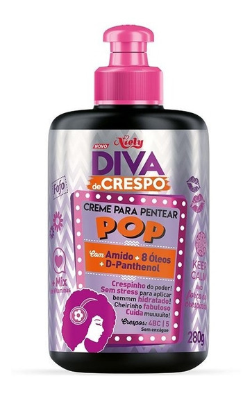 Creme Para Pentear Pop Niely Diva De Crespo