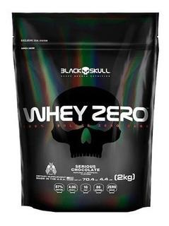 2x Whey Zero 2kg 2000g 2kg = 4000grefil Isolado Blackskull