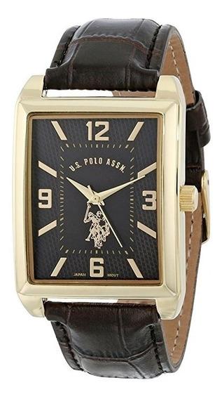 Reloj De Hombre Polo Modelo Usc50117 Cuadrado Clasico Negro