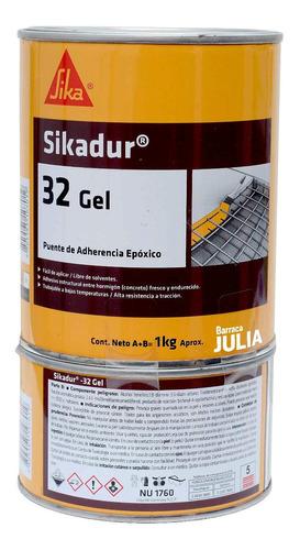 Imagen 1 de 2 de Sikadur 32 Gel 1kg A + B - Puente Adherencia Para Hormigón