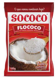 Coco Ralado Flococo 100g Sococo Kit Com 24 Unidades