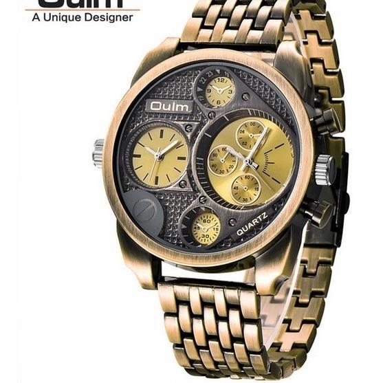 Relógio Masculino Oulm Antigo Militar Promoção 2019