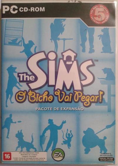 Jogo Em Cd-rom Duplo The Sims O Bicho Vai Pegar Original