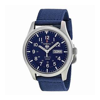 Reloj Snzg11 Seiko 5 Automático Azul Marino De Lona Hombre
