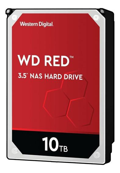 Disco rígido interno Western Digital WD Red WD100EFAX 10TB vermelho