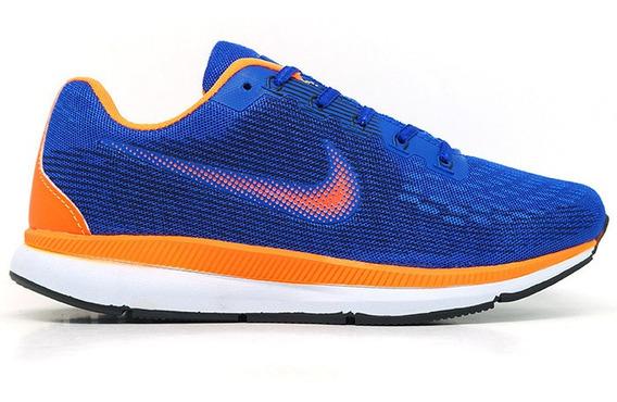 Tênis Nike Zoom Pegasus 34 Azul E Laranja Original!