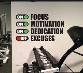 Frases Motivadoras Gym Artículos De Adornos Y Decoración