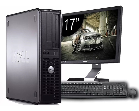 Cpu Dell Optiplex + Monitor Dell 17 + Teclado E Mouse