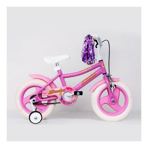 Imagen 1 de 1 de Bicicleta infantil Liberty Infantil Sasha R12 color rosa con ruedas de entrenamiento