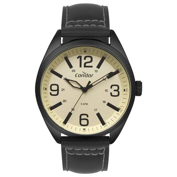 Relógio Condor Ana/cx Mt Preto Puls Couro Co2035mpe/2d