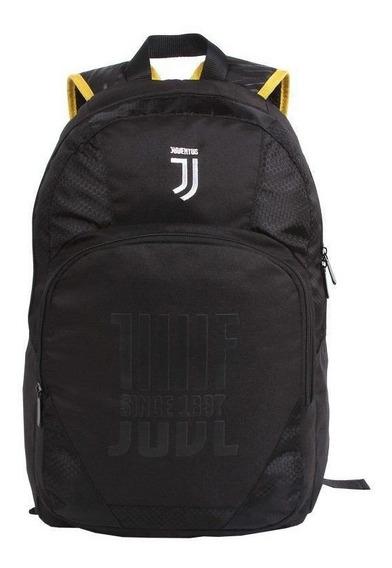 Mochila Juventus Preta E Amarela