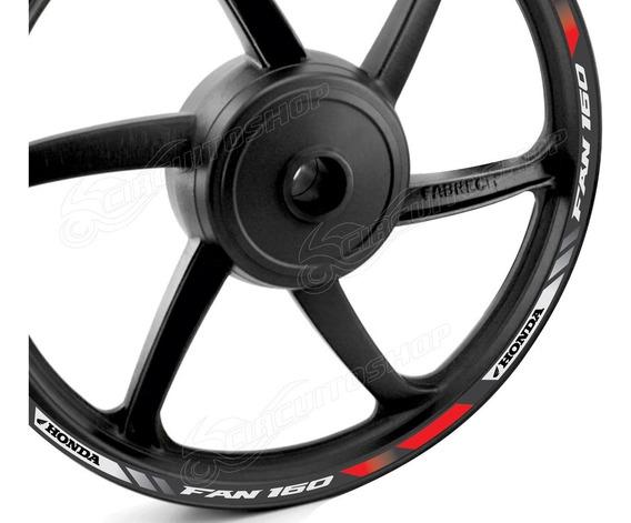 Friso Adesivo Refletivo Roda Tricol M1 Moto Honda Cg Fan 160