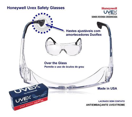 Óculos Uvex Sobrepor Lente Ultra Clear Uvextreme Original Nf