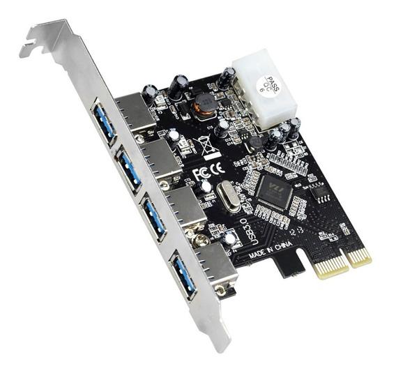 Placa Pci-e Usb 3.0 5gbps C/4 Portas Dp-43m Nova Promoção