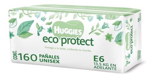 Imagen 1 de 7 de Huggies Eco Protect Pañal Desechable, Etapa 6 Unisex, 160pz