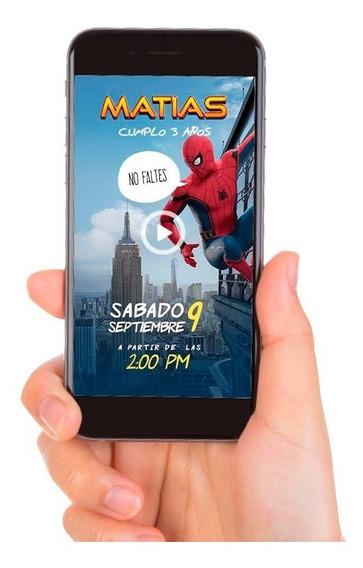 Video Invitación Digital Spiderman - Hombre Araña