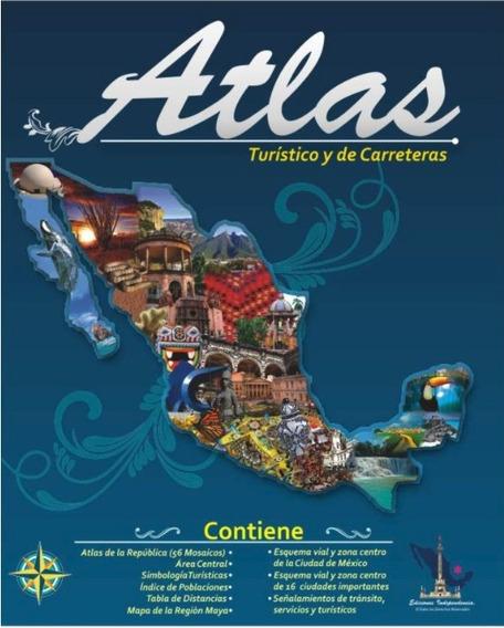 Atlas Turístico Y De Carreteras República Mexicana Actual