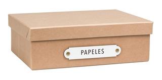 Caja Organizadora Tamaño A4 Papeles Kraft