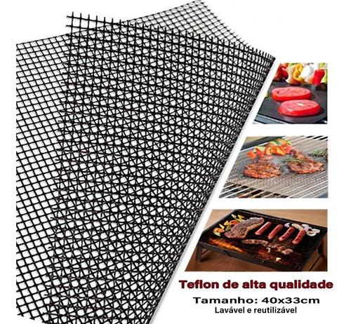 Tapete Tela Para Churrasqueira Teflon Antiaderente Oferta