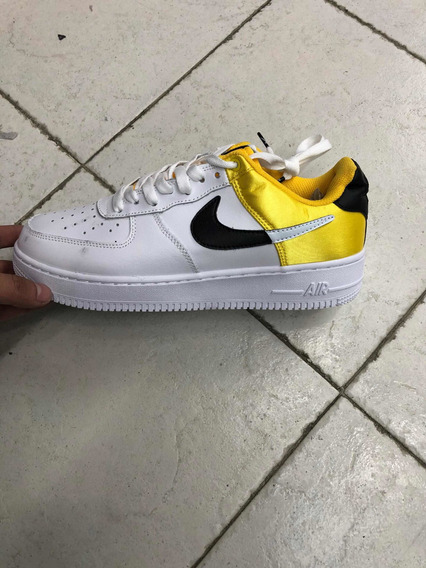 Air Forcé One Nba Blanco Amarillo