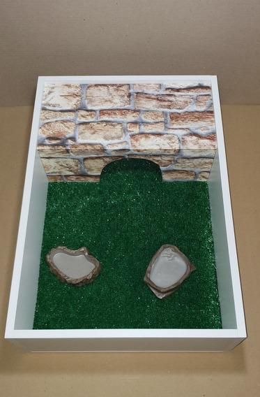 Terrário P/ Jabuti Tartaruga 65x45x17 Branco Pedra Natural-artexotics