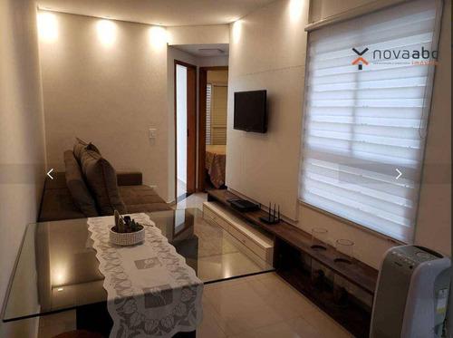 Apartamento Com 2 Dormitórios À Venda, 51 M² Por R$ 245.000 - Jardim Utinga - Santo André/sp - Ap1836