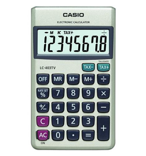 Imagen 1 de 1 de Calculadoras De Bolsillo Casio Lc-403