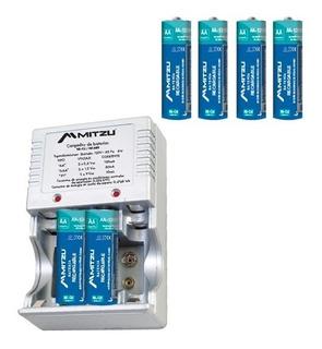 Cargador De Baterias 4 Pilas Aa Recargables 2500ma Mc-700