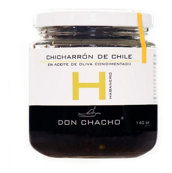 Don Chacho Chicharron De Chile Aceite De Oliva Salsa Picante