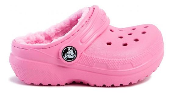 Crocs Crocband Classic Lined Clog Corderito Pink Niños 2105