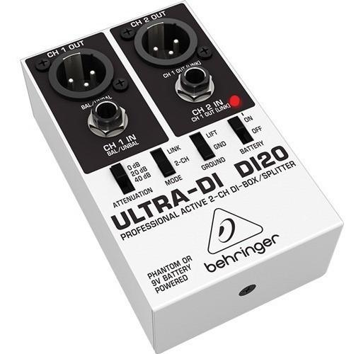 Di20 Direct Box 2 Canais Ativo Behringer Original Lc Audio