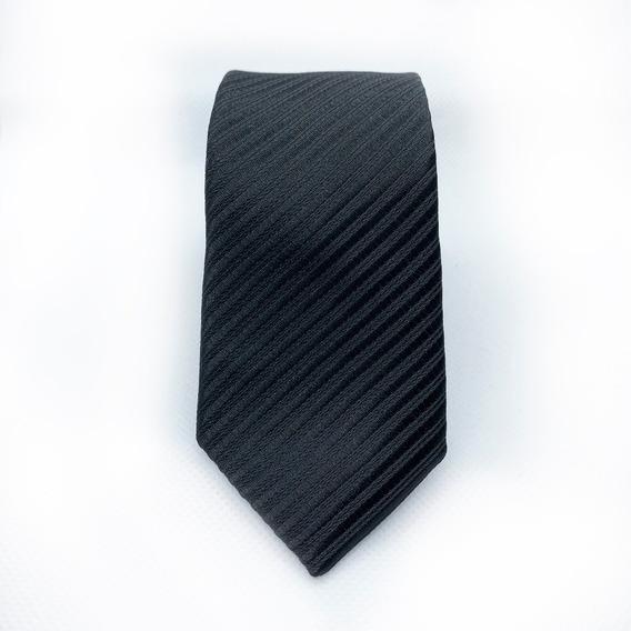 Corbata Negra Slim Tie Delgada De Moda Para Hombre 5 Cm