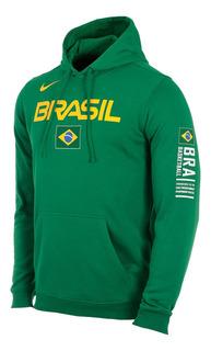 Blusão Nike Seleção Brasileira De Basquete Fleece Masculino