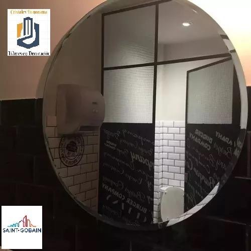 Espejo Redondo 60 Cm De Diámetro Con Bisel 1 Pulgada - Envío