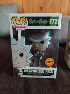 Funko Pop Weaponized Rick Edición Chase