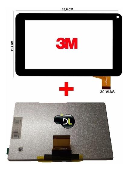1 Tela Touch Lcd075 +1 Display Lcd093 Tablet Dl Varios Model