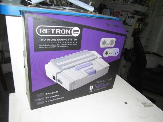 Nintendo Hyperkin Retron 2 Snes/nes Console Novo Cinza 2in1