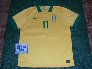 Camisa Seleção Brasil Brasileira 2013 Nike Home #11