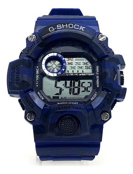 Relógio Shock Cronômetro Alarme Estilo Militar Prova D