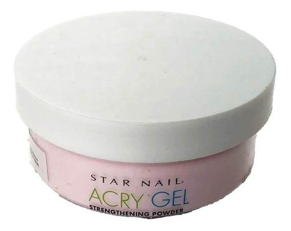 Pó Acrílico Acrygel Uv Star Nail Pink 45g Alongamento Unhas