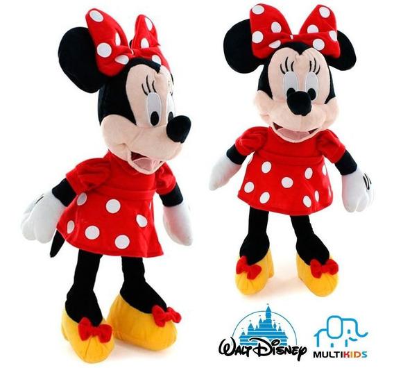 Pelúcia Minie / Mikey Mouse 33cm Com Som Original