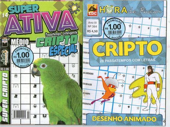 Kit 25 Revistas Cripto Criptograma Crípton - Sem Repetições
