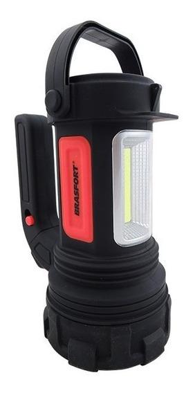 Kit Lanterna Brasfort Alfa 7842 + 4x Pilhas Duracell Aa