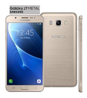 Smartphone Samsung Galaxy J7 Metal 2016 Novo Lacrado Dourado