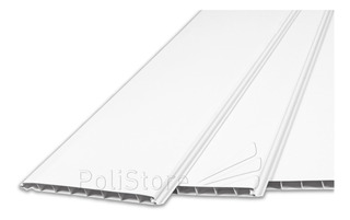 Cielorraso Machimbre Placas Pvc 14.5mm X 3mts X 20cms Blanco